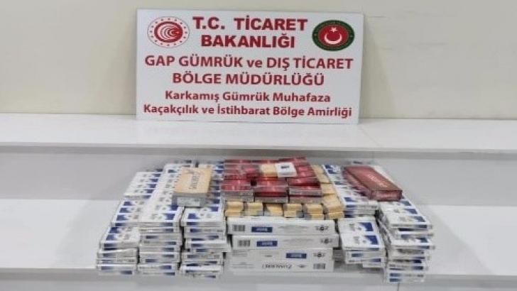 650 paket kaçak sigara yakalandı