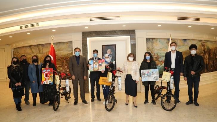 Bisiklet ödüllü resim yarışmasında kazananlar belli oldu