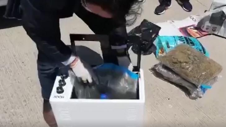 Fırının içinden 6 kilo uyuşturucu çıktı